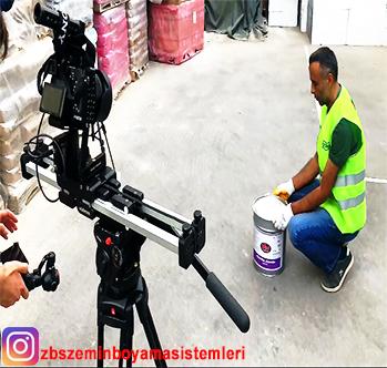 ZBS Akrilik Zemin Boyası ürünümüzün Tanıtım videosu çekimi kamera arkası