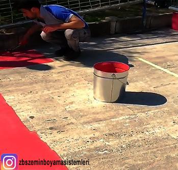 Gölcük Belediyesi Park ve BAhçeler Md.lüğüne bağlı tüm çocuk parklarının eskimiş olan Traverten zeminlerinin yenilenmesi amacı ile ZBS Akrilik Zemin Kaplama boyası ürünümüzün uygulama videosu