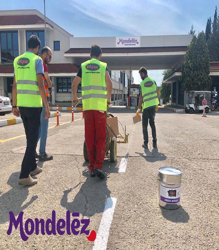 ZBS Zemin Boyama Sistemleri ile Mondelez Kent Sakız Fabrikası Zemin Boyama Çalışmaları